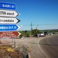 Automobile si ribalta all'uscita Barletta ovest, interviene la Polizia locale