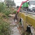 Maltempo a Barletta, rimossi detriti e rifiuti dal canale Ciappetta Camaggio