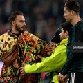 Barlettano invade il campo durante Juventus - Atletico Madrid