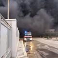 Incendio zona industriale, Legambiente Barletta: «Il sindaco faccia chiarezza»