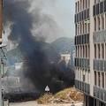 Fiamme e fumo, a Barletta bruciano sterpaglie in zona parco degli Ulivi