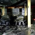 Barletta in fiamme, incendiate quattro automobili in via Lattanzio
