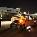 Auto proveniente da Barletta si schianta contro il palo dell'illuminazione