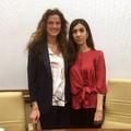 """Assuntela Messina incontra il nobel per la pace Nadia Murad:  """"L'italia si impegni contro l'Isis """""""