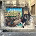 A Pasqua spunta un altro murale ispirato a De Nittis tra le strade di Barletta