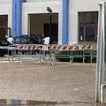 Bomba d'acqua a Barletta: distrutta la porta d'ingresso del PalaBorgia