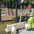 """Parco  """"Pietro Mennea """", panchina vandalizzata dopo solo 24 ore"""