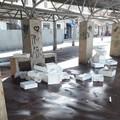 «Ci risiamo», piazza Divittorio a Barletta di nuovo sommersa dai rifiuti
