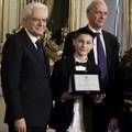 """""""Mai più schiave """", il presidente Mattarella premia uno studente di Barletta"""
