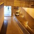 Allagato il sottovia Pertini di Barletta, bloccata un'auto nell'acqua alta