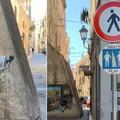 """""""Toilette """" pubblica in via Sant'Andrea, l'arte di strada si fa denuncia"""