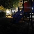 Buio pesto nel parco giochi di via Chieffi