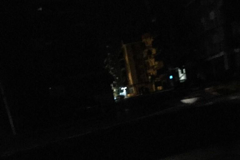 Black out in via Alvisi