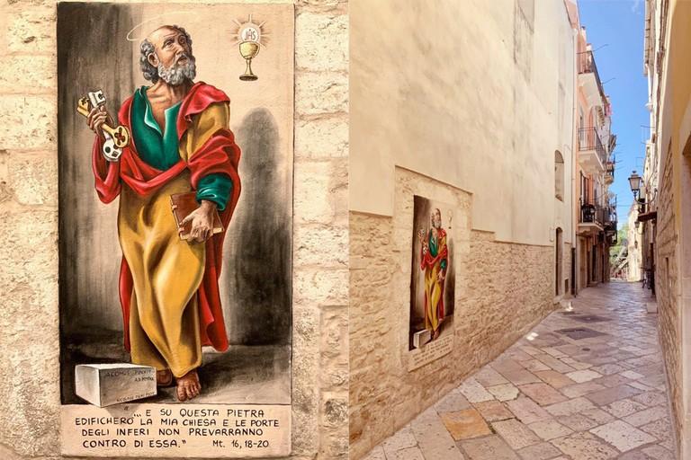 Murale di San Pietro a opera del maestro Borgiac