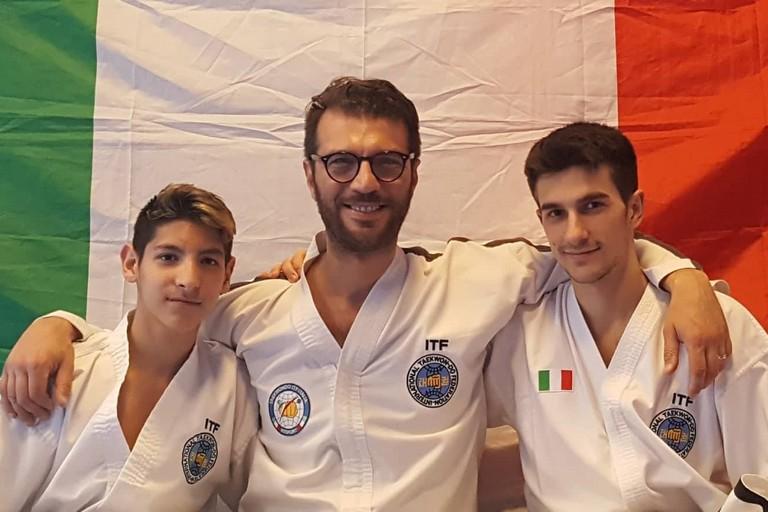 Cafagna e Tedeschi col master Lanotte
