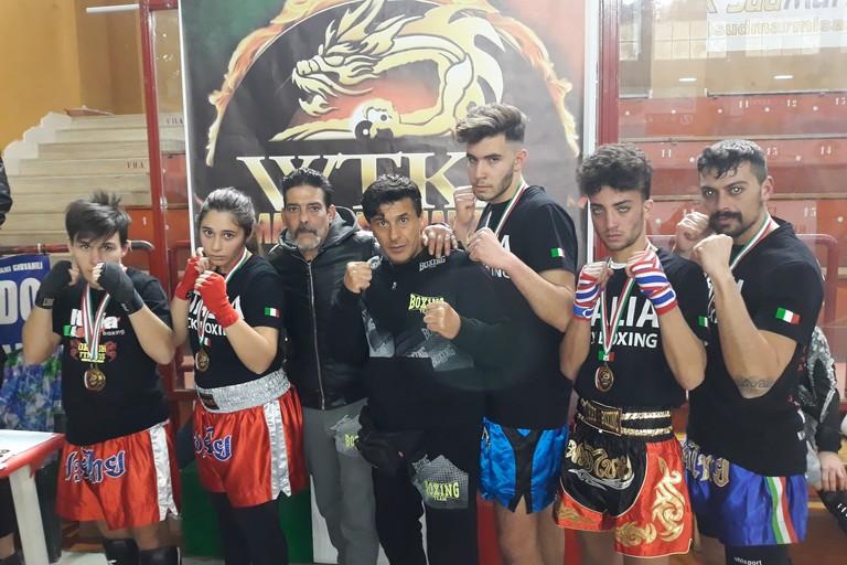 Campionati di kick boxing, medaglie d'oro per cinque atleti di Barletta