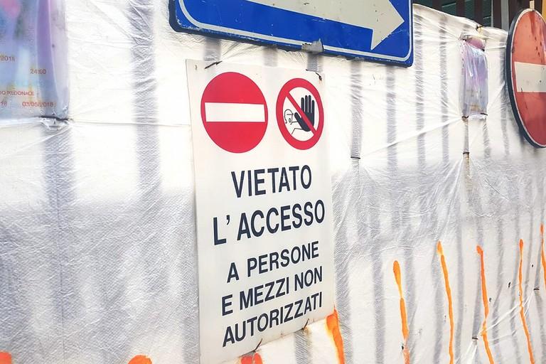 Cantiere in via Milano