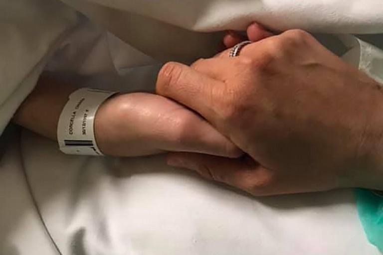 Chiara in ospedale