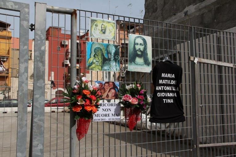 Commemorazione vittime crollo via Roma