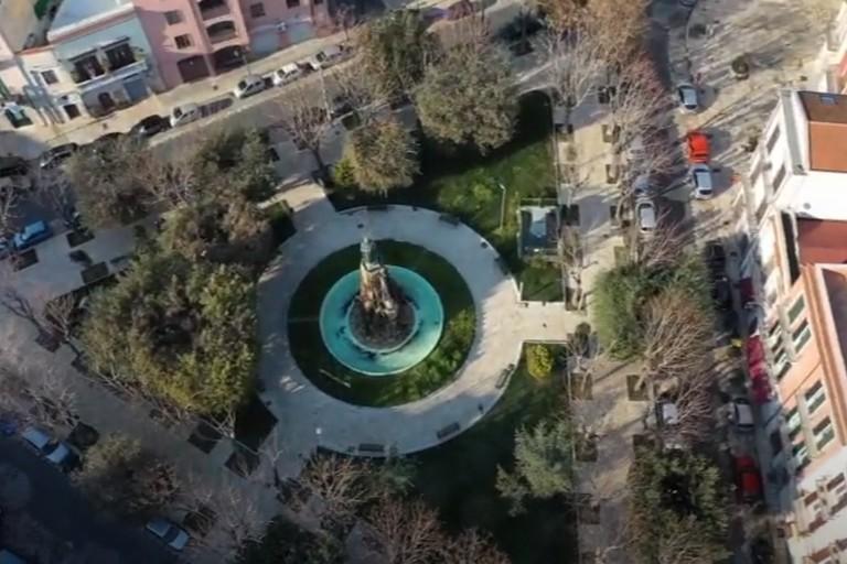 Barletta dall'alto con le immagini del nucleo droni APR della Polizia locale
