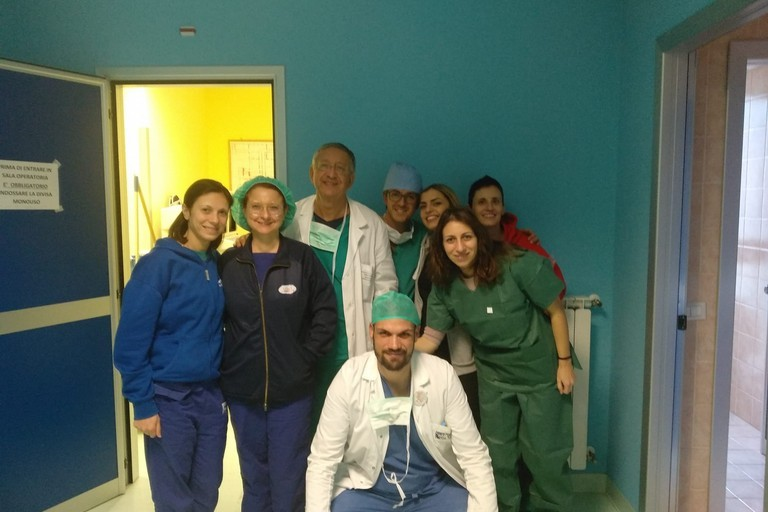 Equipe dell'ospedale Bonomo