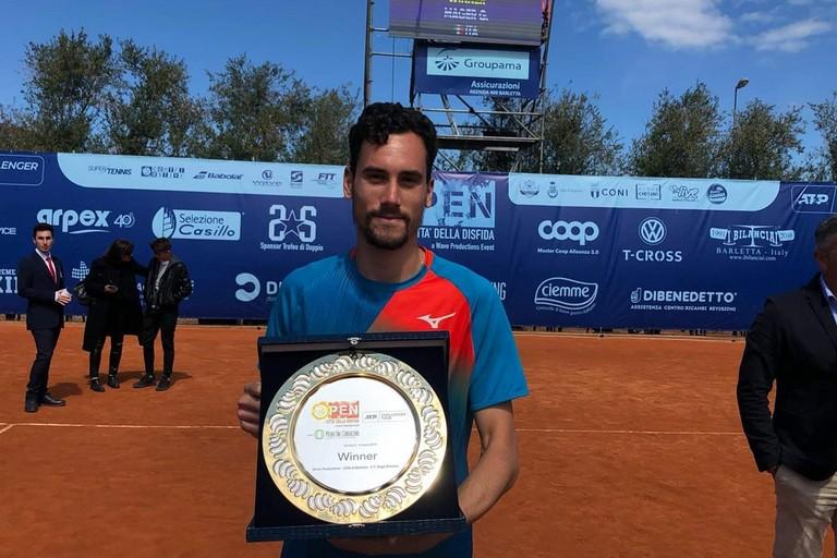 Gianluca Mager vince l'ATP Barletta 2019