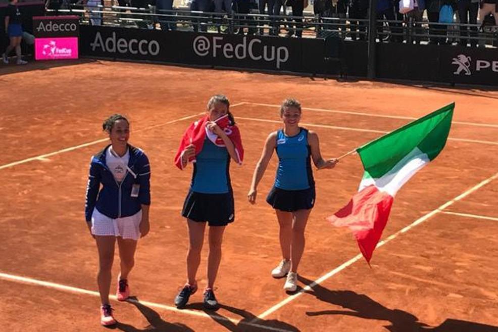 Fed Cup, l'Italia supera Taipei
