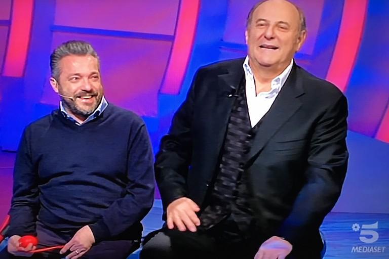 Francesco e Gerry Scotti
