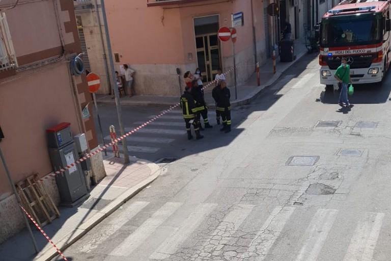 Fuga di gas in via Dicuonzo
