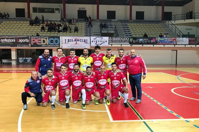 Il Futsal Barletta sbaraglia l'Eraclio ai calci di rigore