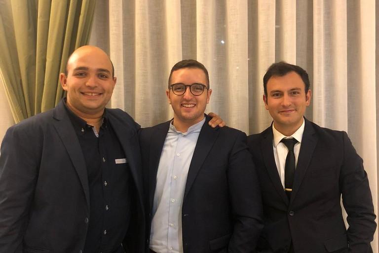 Da sinistra, Silvio Caldarola, Felice Musto, Michele Piazzolla