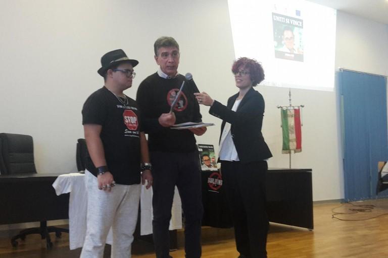Il sindaco Cannito e il rapper Marco Baruffaldi