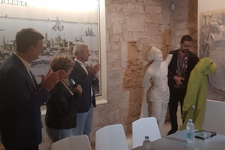 Ultimato il restauro della statua di San Sebastiano
