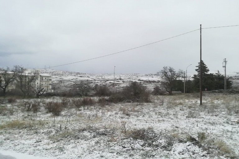 Neve sulle Murge: 3 gennaio 2019