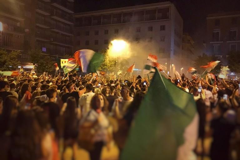 Italia campione d'Europa, festa in Piazza Moro
