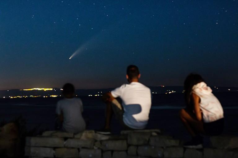 La bellezza della cometa Neowise fotografata da Barletta. <span>Foto Luciano Ostuni</span>