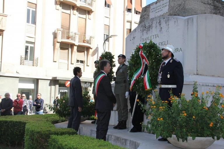 Celebrazioni del 4 novembre a Barletta