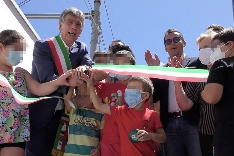 Inaugurazione passaggio pedonale via Milano