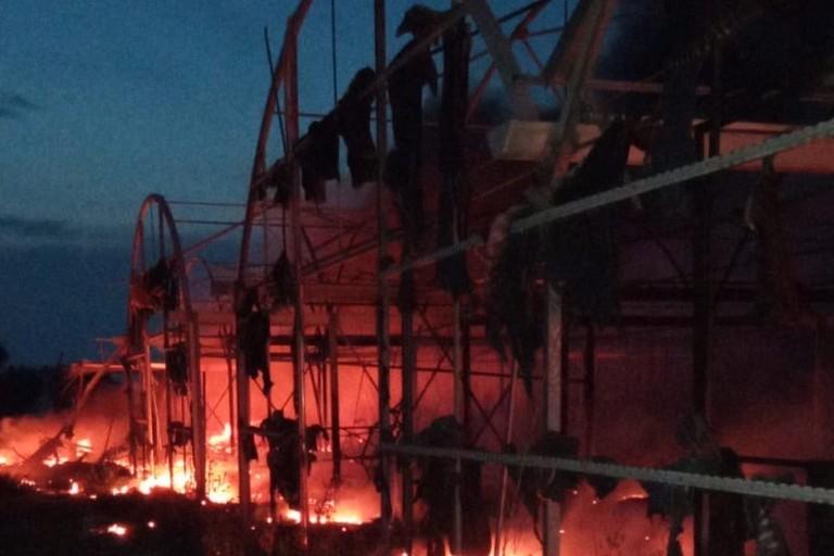 Incendio vivaio Andria