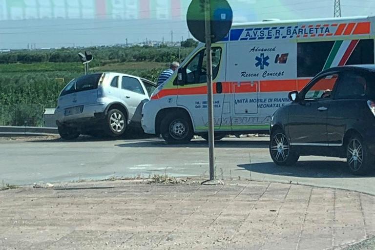 Incidente all'uscita Barletta Centro