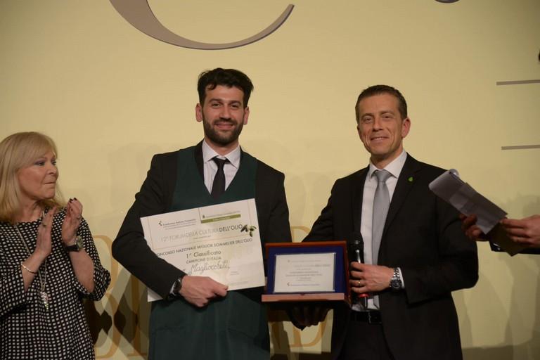 Il Miglior Sommelier d'Italia dell'Olio 2019 è il barlettano Franco Magliocchetti. <span>Foto Fondazione Italiana Sommelier</span>