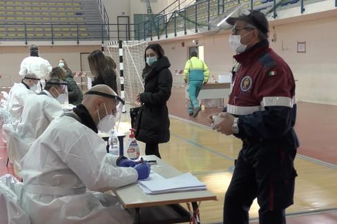Al PalaBorgia di Barletta la prima vaccinazione di massa