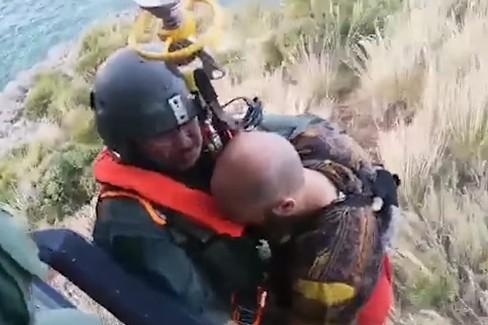 Il salvataggio di un turista barlettano da parte dell'Aeronautica Militare