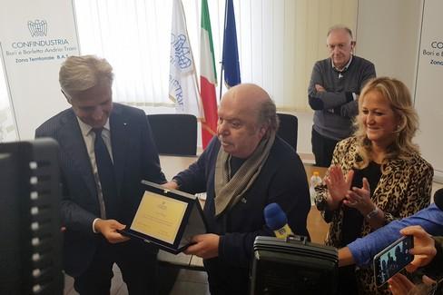 Lino Banfi premiato a Barletta da Confindustria