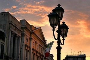 Barletta al tramonto