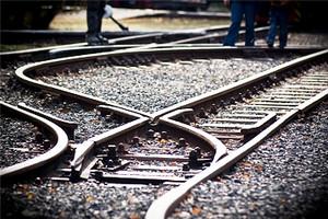 Ferrovia scambio ferroviario