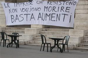 Protesta degli esercenti