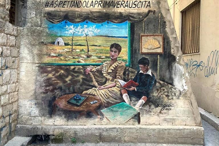 Murale De Nittis dell'artista Borgiac