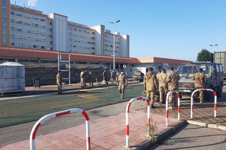 Ospedale da campo a Barletta
