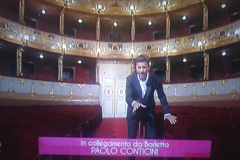 Paolo Conticini inviato per Portobello a Barletta